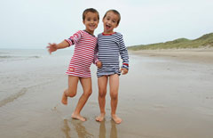 twins on Danish beach